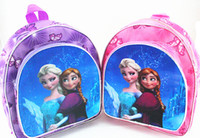 Wholesale 2014 princess Anna Elsa children bags student Polyester school bags cartoon Both shoulders backpacks mixed colour C001