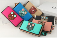 luxury leather handbags - Vintage Style Lady Cartoon Owl Long Wallet PU Leather Women Multy Function Phone Money Handbags Lovely Big Girls Luxury Wallets H1155