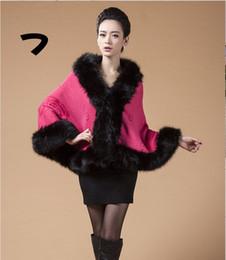 Wholesale Autumn winter fashion women s clothing fur shawl jacket Cloak knitting cardigan Vintage explosion style