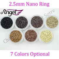 Black bead jars - 2 mm Nano copper beads rings links RInglets for Pre Bonded Nano Tip Tipped hair extensions jar Black Blonde Brown Dark brown