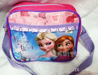 Wholesale Hot Sale Fashion Girls Frozen Anna Elsa Sets bags child Fashion Cartoon handbags kids shoulder lunch bags children gift schoolbag frozen pur