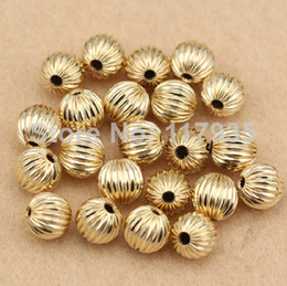 Wholesale 20beads lot high quality pure copper rolled 14k gold filled 3-10mm spacer round lantern Loose beads jewelry making