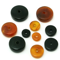 Cheap Shell, Bone, Coral Natural Beads Best Loose Beads Brown Bone Beads