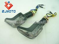 Wholesale 2x Custom Hook LED motorcycle Turn Signals Blinker Light For Honda CB600F CB Hornet smoke
