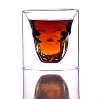Wine Glass bar glasses wholesale - New Crystal Skull Head Vodka Shot Glass Pirate Cup Drinking Ware for Home Bar CW0211