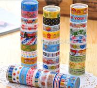 Wholesale rolls Mixed Cartoon Deco Washi Masking Tape Adhesive Scrapbooking Sticker For Students Child Drop Ship