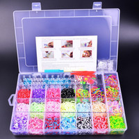 Fashion Bracelets Easy-hook UY-Rubber loom bands kit including(4400 Mixed Color Rubber Loom Bands+48 S-clips+6 Hooks+1 Board)DIY Colorful Bracelets
