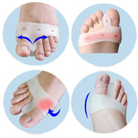 Red health care products - Pair Silicone Gel Toe hallux valgus Separators Straighteners Bunion Relief Health Care Products