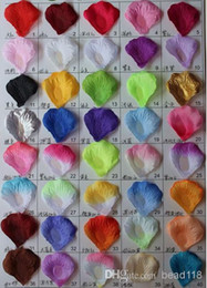 Wholesale MIC Pretty Fabric Flower Rose Petals Wedding Party Decoration Colors to choose z02