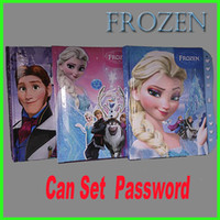 Wholesale Frozen Anna Elsa Notebook Kids Can Set Password Notepad Children Learning Stationery GZ GD9