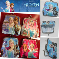 Wholesale 9 off in stock Fashion Pretty mm iron buckle purse Children shell pack frozen elsa anna DROP SHIPPING hot sale HG