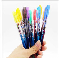 Wholesale 12pcs Frozen Gel Pen Shining Glitter Writing Stationery Set Multi Color Pens Christmas Xmas gift with retail package DHL