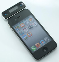 Wholesale Wireless LCD mm Jack FM Transmitter for iPhone C S Samsung iPod iPad Smart Phone HTC Handsfree Car Kit