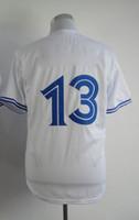 Wholesale American Baseball Jerseys Brett Lawrie Blue White Grey Baseball Wear Cheap Sports Shirts Embroidery Logo and Number Top Quality jerseys