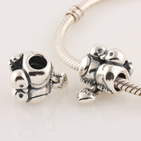 Wholesale L176 Sterling Silver beads Couple Birds Screw Hole Dangle Stopper Charm with Love Heart Suitable for Pandora Bracelet