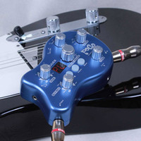 achat en gros de guitare pédale mooer-Mooer pogo effets de guitare Mini Portable Multi Effet Guitare Pédale avec 5 Effect Modules 15 Types d'Effets