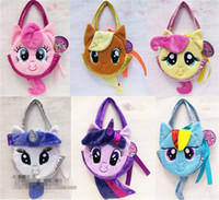 Totes big carrier bags - 6 Styles My Little Pony plush bag Carrier Soft Hand Bag Plush Doll
