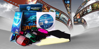 Wholesale New D Glasses can watch d movies online have red amp blue green amp red brown amp blue for you choice