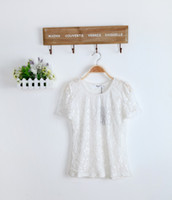 V-Neck Regular Acetate Brand Women New 2014 Blouses & Shirts Summer woman Bud silk Casual T-shirt Tops tees Size M L XL XXL