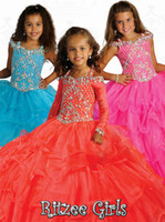 Reference Images Girl Beads Long Sleeves Off The Shoulder Rtzee Girls 2014 Teens Pageant Dresses Girls Crystal Floor Length Formal Occasion Flower Girl Ball Gowns