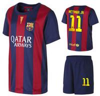 Wholesale High Quality Barcelona NEYMAR JR Home Soccer Sets Spain LA Liga New Football Jerseys Cheap Soccer Shirts with Shorts