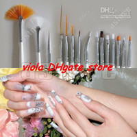 Wholesale 15 Acrylic Nail Art Design Painting Pen Brush Set