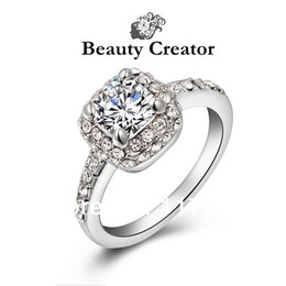 Luxury wedding ring top quality CZ genuine Austrian swa crystal gold Plated hand made rings for Party gift women's jewelry