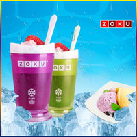 Wholesale Zoku Shop sand ice cup smoothie cup ice cream machine self restraint slush maker shake maker