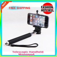 Wholesale Hottest in Camera Tripod Telescopic Handheld Self Portrait Monopod With Tripod Mount Adapter For Samsung And Digital Camera