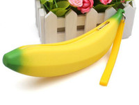 Unisex Coin Purses Yes Wholesale-MN-Free Shipping 2013 Silicone Banana Bag Silicagel Coin Case