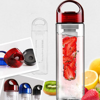 Wholesale Tritan plastic cup water bottle outside sport cqua lemon emperorship fruit cup New sports fruit water bottle Tritan plastic cup outside