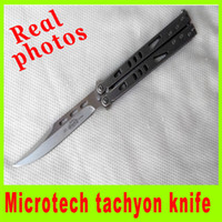 Folding Blade   New arrival Real photos Microtech tachyon knife 440c blade hunting cutting tools survival knife best christmas gift for men L