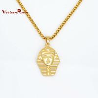 Pendant Necklaces Unisex Fashion 2014 High Quality Women Costume Fashion Pharaohs 18k Plated Gold Necklaces & Pendants Gorgeous Statement Jewelry F801