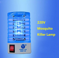 Wholesale Electric Mosquito Fly Bug Insect Trap LED Night Lamp Killer Zapper V EU Standard Plug