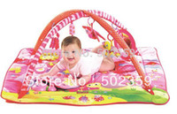 Wholesale MN pink color multifunctional music baby game blanket belt mount game pad baby fitness rack hot sale wj