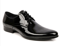 Men italian shoes - Hot Sale Fashion Real Genuine Leather Formal Brand Man Italian Oxford Sneakers Men s Business Dress Patent Shoes