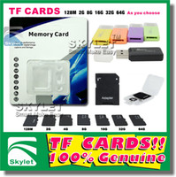 Wholesale Micro SD Card GB gb Micro SD TF Memory Card Class With Adapter Card Reader Retail Package Flash SD Cards Real Capacity Pieces DHL