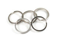 Wholesale 5pcs Tiremet Titanium Ti Pure Color Flashlight Keychain Buckle EDC Daily Keyring Split Key Ring Size S