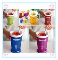 Wholesale New Arrivals Sale ZOKU Slush Shake Maker The authentic Home made ice Cream Tools ice cream cup Homemade Smoothie Milkshake sell
