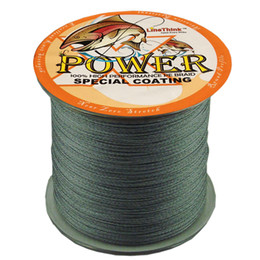 Wholesale 1000M SUPER Strong Japanese Braided Multifilament fishing line POWER Fishing Line LB m braided fishing line