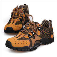 Half Boots Men PU Hot new brand waterproof leather men's hiking shoes
