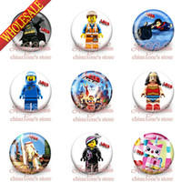 Multicolor best party favors - 2014 New Arrival Super Hero Tin Buttons pins badges MM Round Brooch Badge Kids Best Gift Party Favors