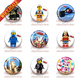 Wholesale 2014 New Arrival Super Hero Tin Buttons pins badges MM Round Brooch Badge Kids Best Gift Party Favors