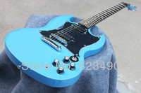 Solid Not Specified Left-handed Best Price Custom Shop Light Dark Blue SG Electric Guitar Free Shipping