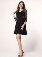 Casual Dresses Bodycon Dresses Autumn 2014 Fall Fashion Lace Dress Spring Women Clothing Sexy Long Sleeve Party Dresses New Arrival