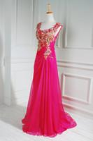 Real Photos Scoop Chiffon Free Shipping Empire Floor-length Cap Sleeve Zuhair Murad Embroidery Pink Long Evening Dress 2014