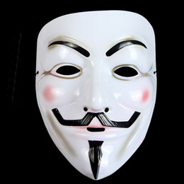 Full Faces V for Vendetta Mask Mardi Gras Masquerade Dance Halloween Costume Party MASKS Free Shipping