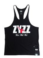 Men gym vest - Men s Bodybuilding Muscle Deep cut ZYZZ Golds Gym Stringer Tank Tops Gym Vest Fitness Clothes Workouts Sports Singlets Vest