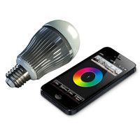 Wholesale 2 G W RGBW RGB White LED Lighting Bulb Dimmable Lamps E27 AC85V V Mi Light Series zone remote control Wifi controller Smartphone
