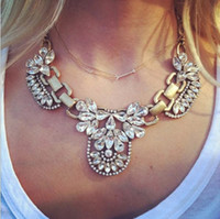 Chokers collar necklace - Promotion Fashion Crystal Collar Statement Necklaces Personalized Vintage Retro Choker Jewelry For Women
